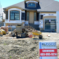 Coco showhome construction phase 40